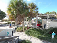 Siesta Key Public Beach Pavilion concession stand, restrooms, rentals beach wheelchairs